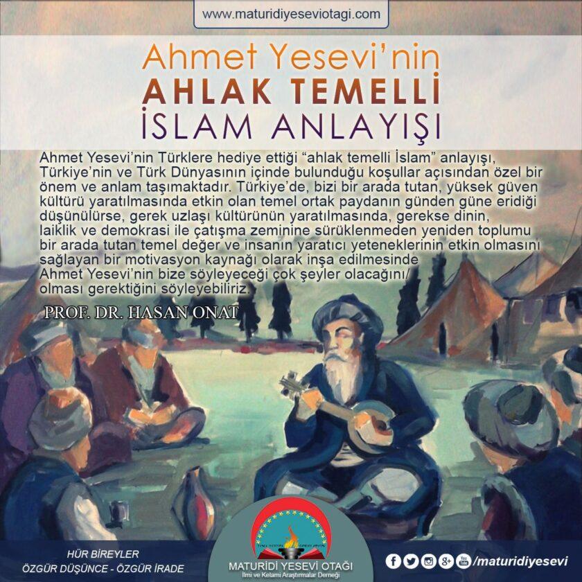 Ahmet Yesevi'nin ahlak temelli islam anlayışı